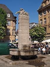 Castrop-Rauxel Markt und Brunnen