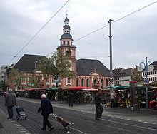 Mannheim Markt und Rathaus