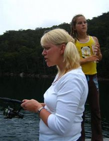 Angler mit Angeln