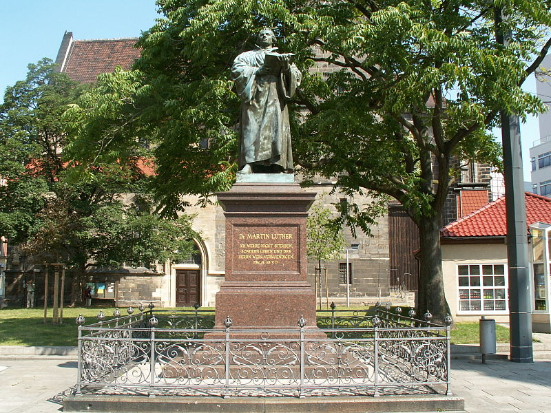 Luther Denkmal in Erfurt