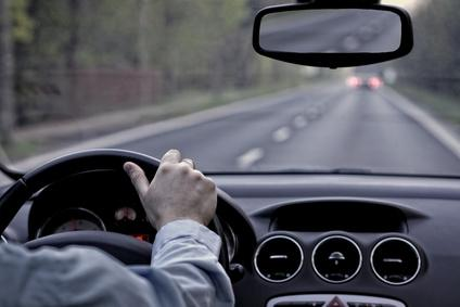 Probefahrt mit dem Auto