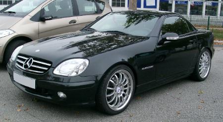 Mercedes Sl  R Scheiwerfer Vorne Black