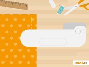 Grafik Babydecke mit Nähmaschine selber machen