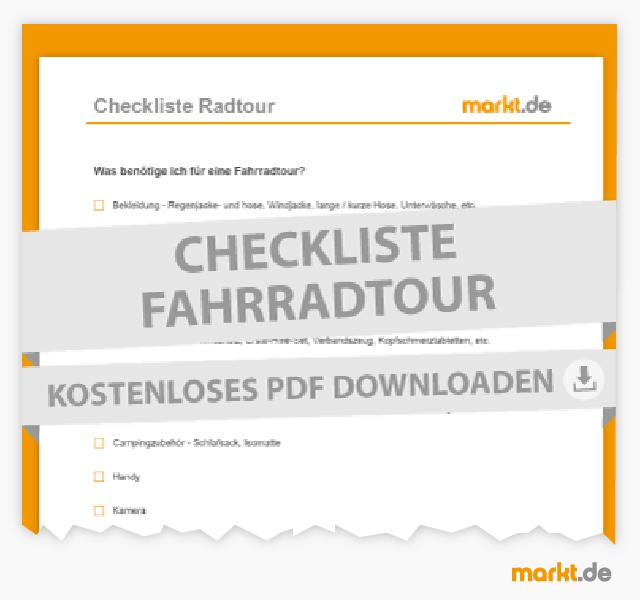 Checkliste Radtouren
