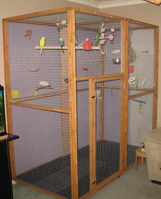 papageien ratgeber bau und ausstattung einer voliere. Black Bedroom Furniture Sets. Home Design Ideas