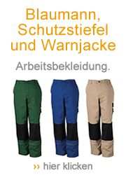 Blaumann, Schutzstiefel und Warnjacke