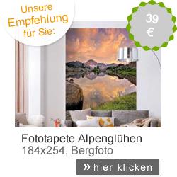 Fototapete Alpenglühen