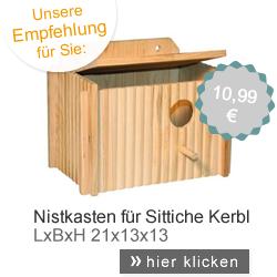 Nistkasten Sittich Kerbl