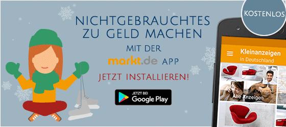 Trödel verkaufen und Geld verdienen mit der markt.de App