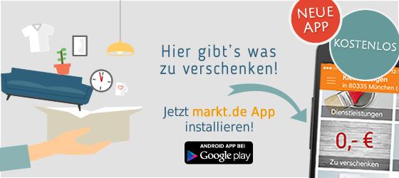 Gratisangebote finden mit der markt.de App