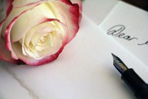 Bild Brief mit Rose