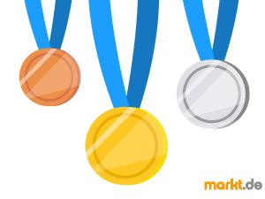Bild gold, silber und bronze Medaille