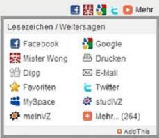 Lesezeichen für markt.de