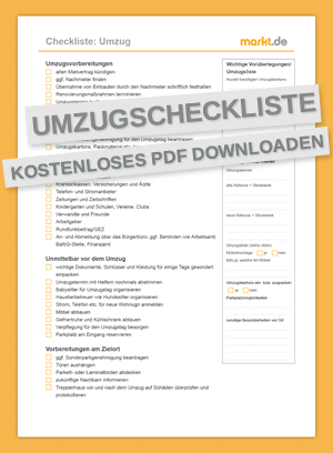 Checkliste Umzug