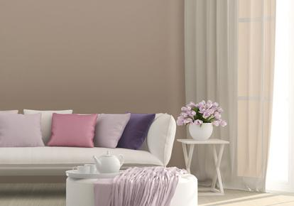 einrichten in beruhigenden lilatönen: gute laune für wohnzimmer ... - Wohnzimmer Einrichten Braun Grun