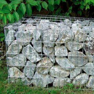 Bild Gabione Sichtschutz Stein