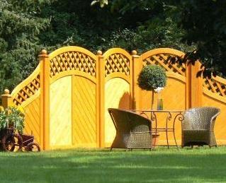Bild Sichtschutz Holz mit Holzsichtschutz
