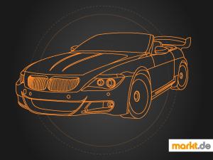 Grafik Auto als Statussymbol stilisiert
