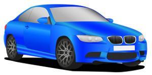Grafik blaues Auto