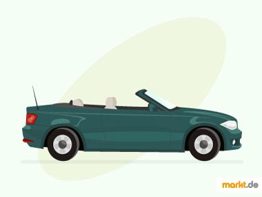 Grafik grünes BMW 1er Cabrio