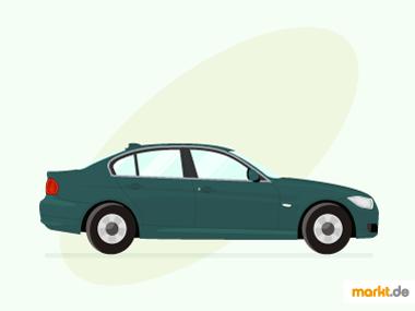 Grafik grüne BMW 3er Limousine