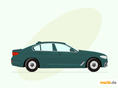 Grafik grüne BMW 5er Limousine