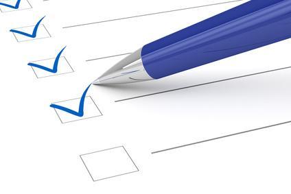 Bild von Checkliste