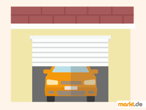 Bild Auto fährt aus Garage