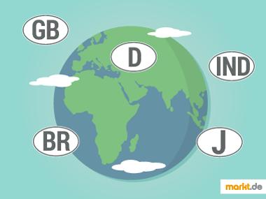 Grafik Internationale Autokennzeichen