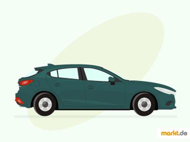 Grafik grüner Mazda 3