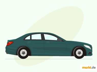 Grafik grüne Mercedes C-Klasse