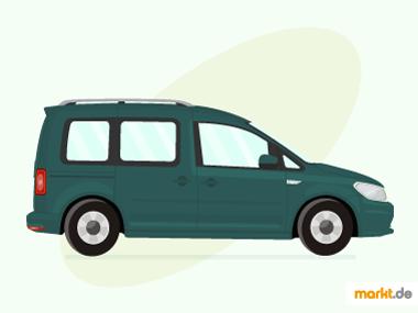 Grafik grüner VW Caddy