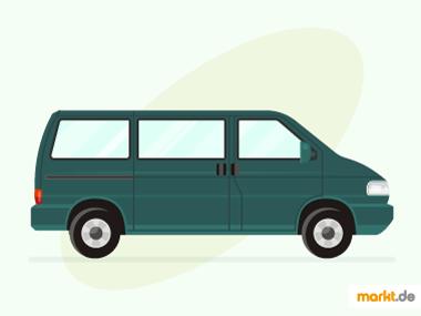 Grafik grüner VW T4