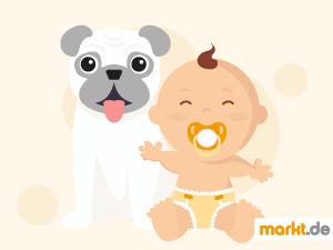Bild Baby mit Hund
