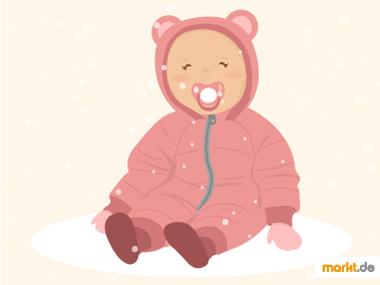 Grafik Baby in Winterkleidung