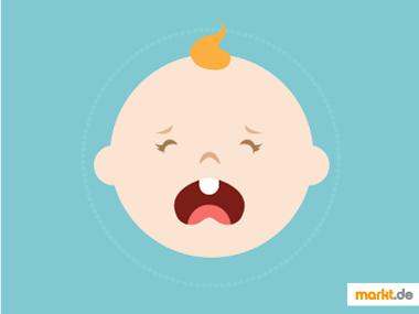 Grafik Baby zahnt