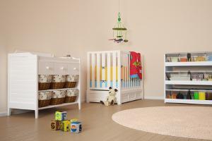 Bild Babyzimmer in Naturfarben