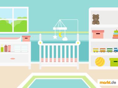 Grafik Babyzimmer in Grüntönen