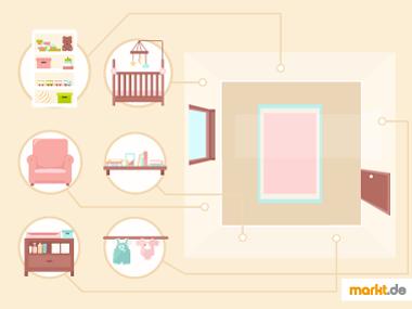 Grafik Babyzimmer passend einrichten