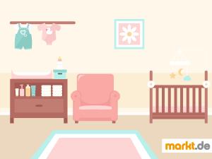 Bild Babyzimmer mit Babymöbeln