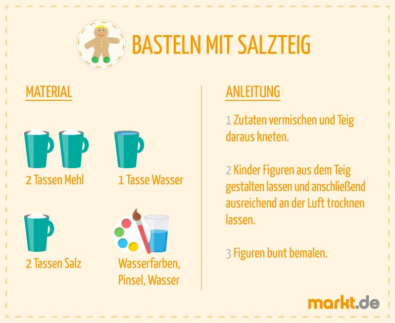 Bild von Bastelideen für Kinder Salzteig