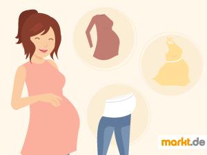 Bild schwangere Frau und Schwangerschaftskleidung