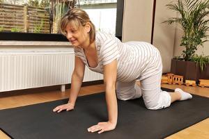 Bild schwangere Frau beim Sport