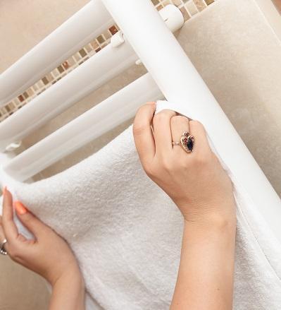 Bild Handtuchhalter als Heizkörper