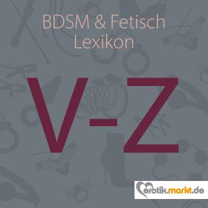 Grafik BDSM Lexikon V, W, X, Y, Z