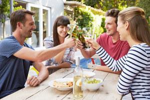 Bild Frau mit Freunden