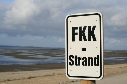 Schild FKK Strand
