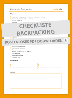 Grafik Checkliste Backpacker