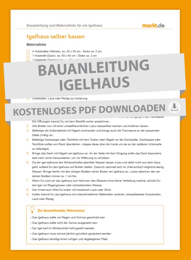 Anleitung Igelhaus