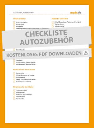 Checkliste Autozubehör